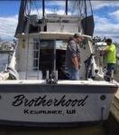 Brotherhood Charters Fishing Boat - Rear view