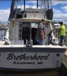 Brotherhood Charters Fishing Boat - Rear view